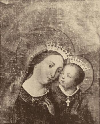 Imagen del Buen Consejo de Genazzano, venerada en el colegio San Luis