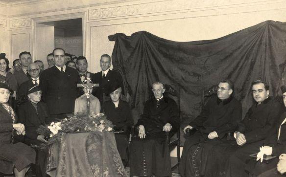 Doña Lucilia y Dr. Plinio en la Sede de El Legionario