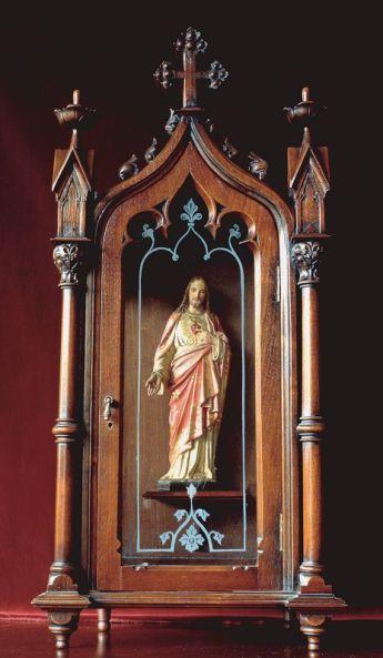 Oratorio del Sagrado Corazón de Jesús que estaba en el cuarto de Doña Lucilia