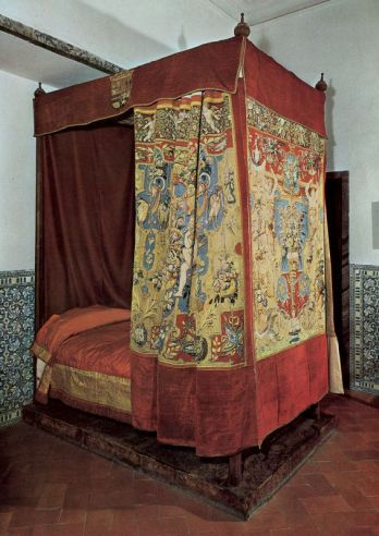 Cama donde murió Felipe II